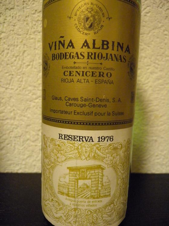 Vina Albina Cenicero Reserva 1976