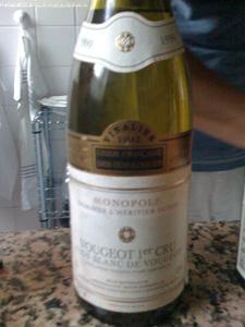 Vougeot 1er cru clos blanc de Vougeot monopole 1998 du domaine l'Héritier Guyot