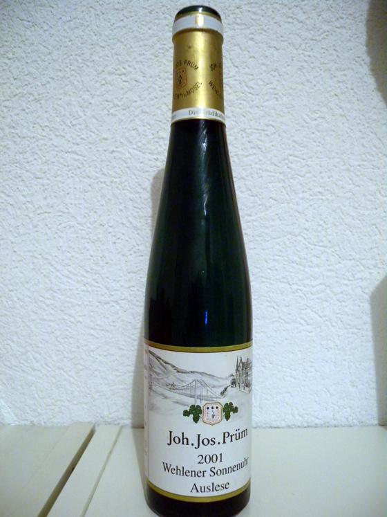 Wehlener Sonnenuhr Auslese GK 2001  JJ Prüm
