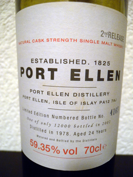 Whisky Port Ellen 2ème embouteillage Single Malt 1979 bt n° 4165