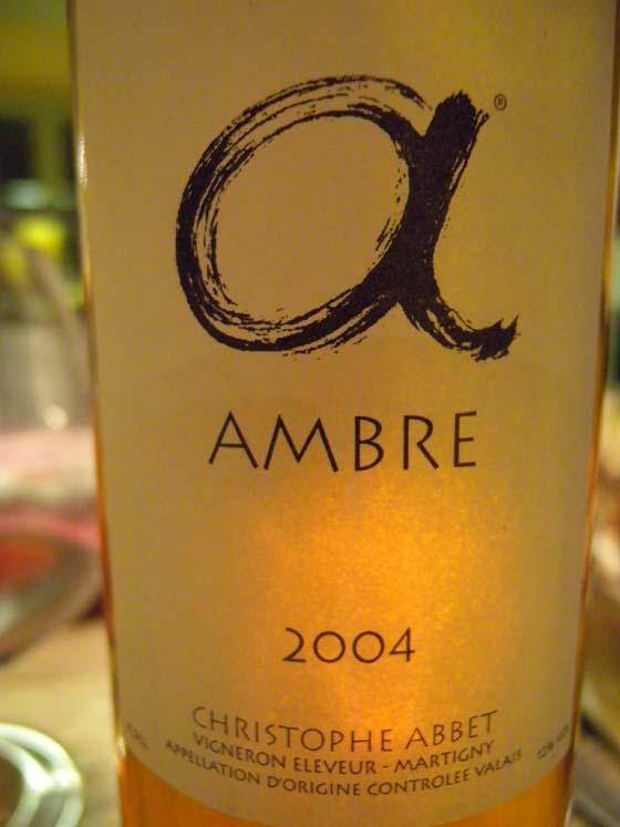 ambre 2004 de Christophe Abbet