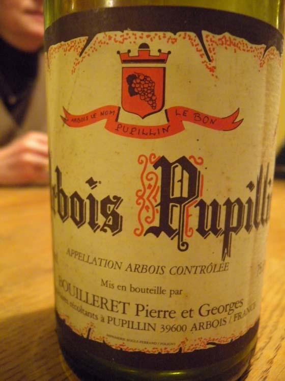 arbois pupillin rouge de Pierre et Georges  Bouilleret 1989 étiquette