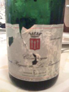 bouteille de champagne à la Régalade