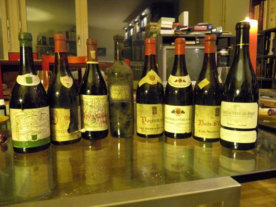 bouteilles de la 1ère partie de soirée