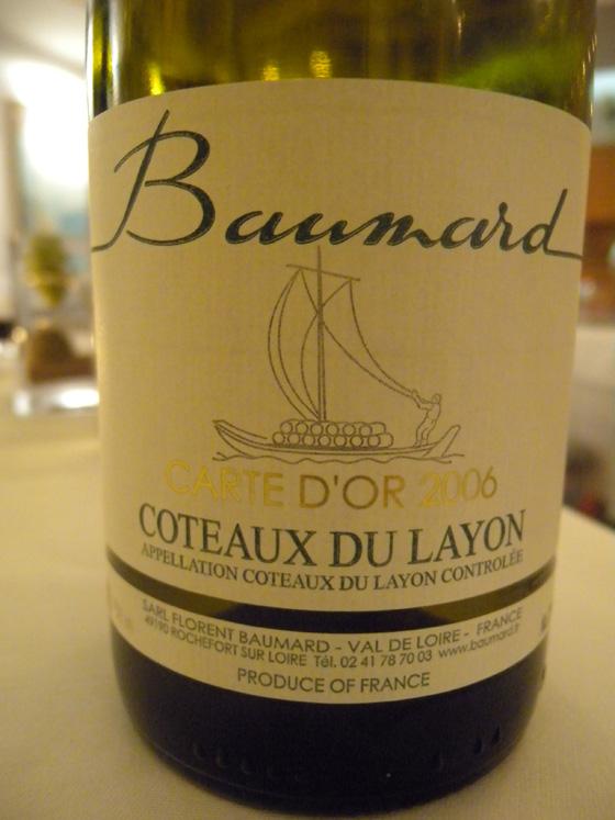 carte d'or 2006 du Coteaux du Layon de Baumard