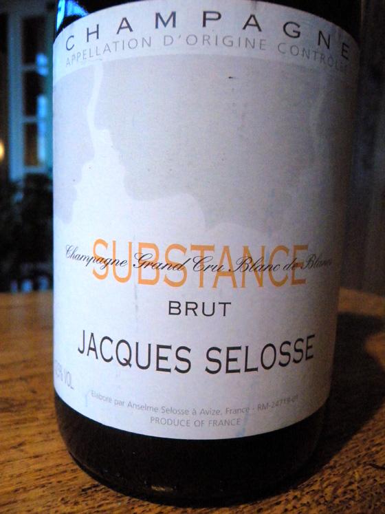 champagne Substance de Selosse