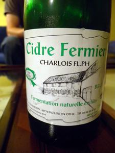 cidre fermier Charlois