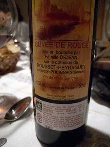 cuvée de rouge Rousset-Peyraguey