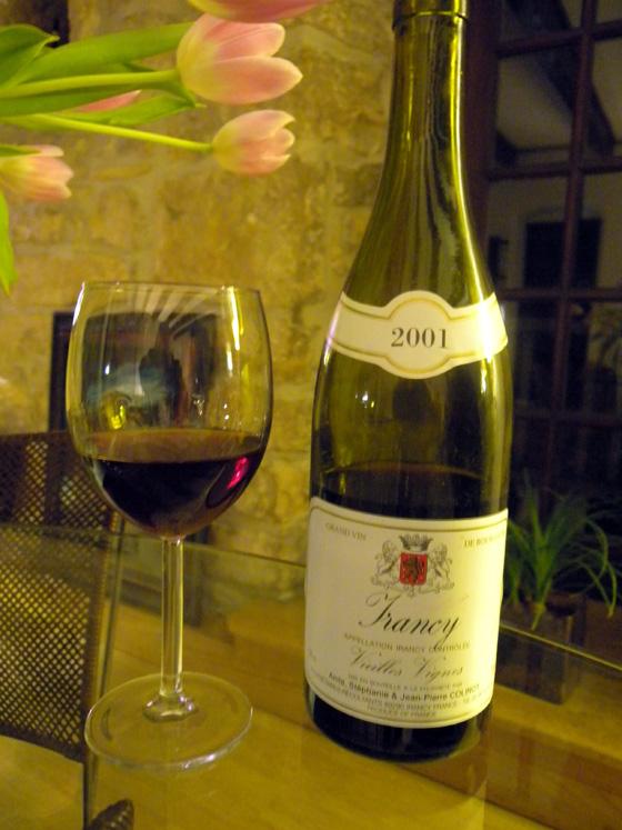 Irancy vieilles vignes 2001 de Colinot
