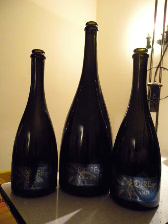 bouteilles de cidre pour la digestion