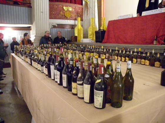 la table des vins aux enchères