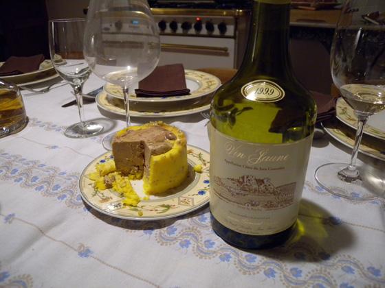 le foie gras et le vin jaune