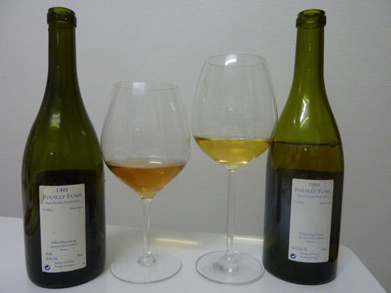 les deux bouteilles de Silex 1992 et 1994