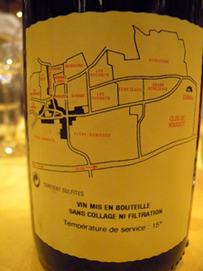 plan de La Grande Rue Grand Cru Monopole 1999