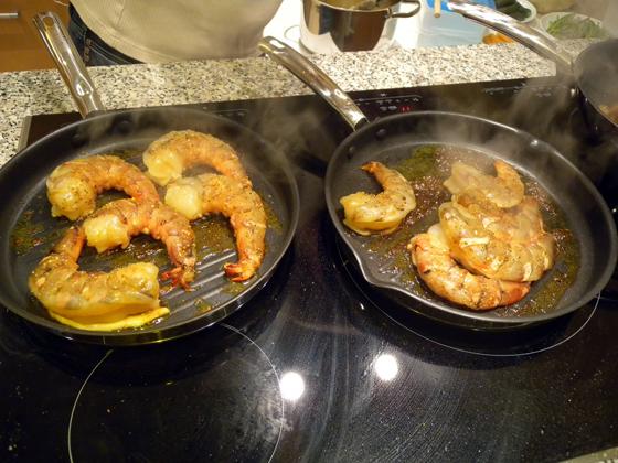 préparation des Crevettes géantes