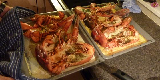 préparation du homard
