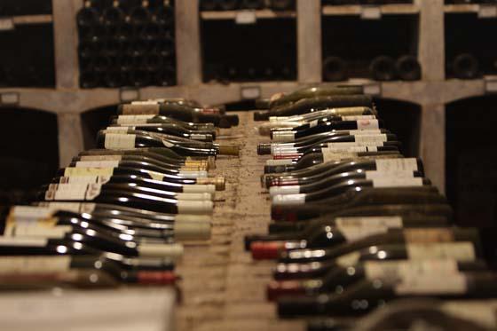 quelques bouteilles cachées dans la cave de Gilles
