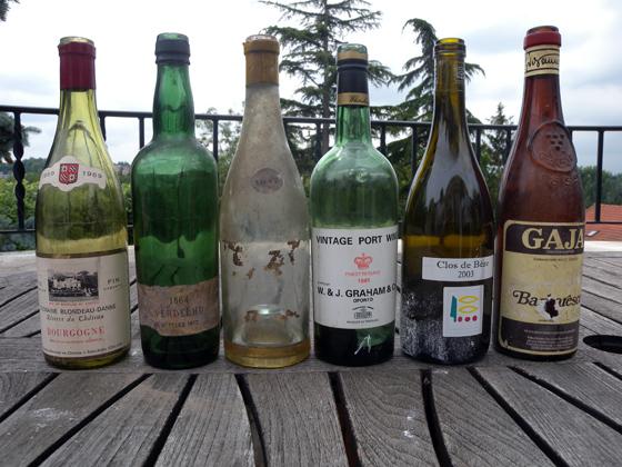 quelques bouteilles magnifiques