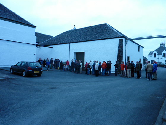 queue à Ardbeg