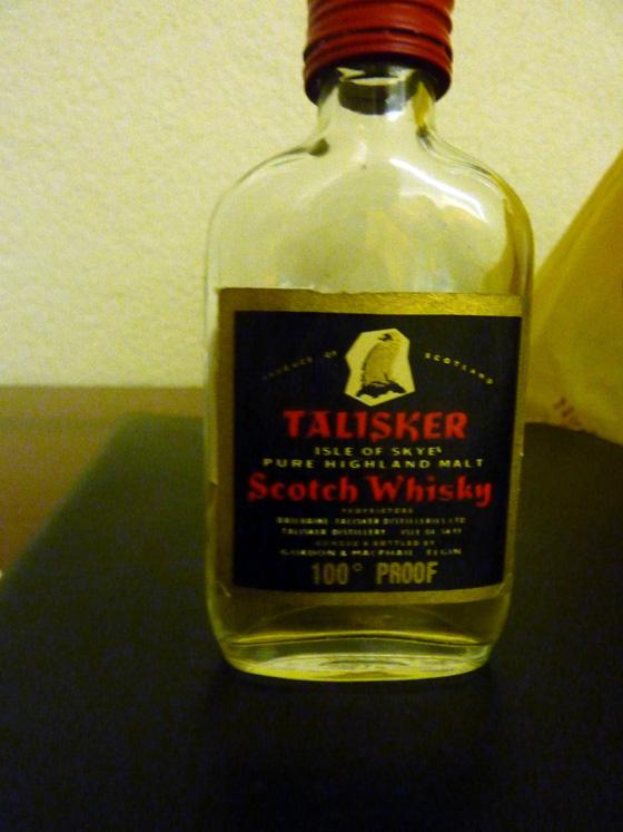 talisker 100° proof CC étiquette noire