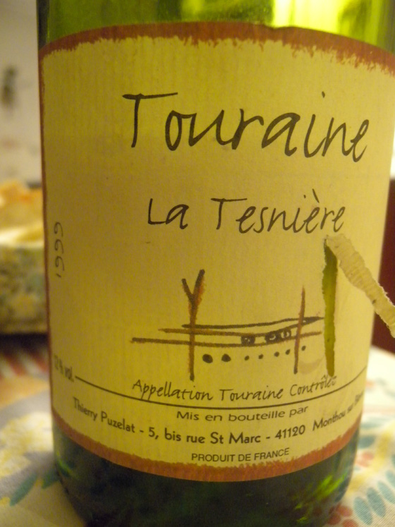vin blanc de Touraine La Tesnière 1999 de Thierry Puzelat