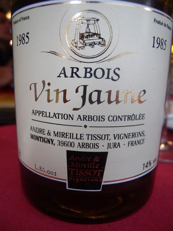 vin jaune 1985 de Mireille et André Tissot