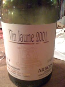 vin jaune 2001 de Stéphane Tissot